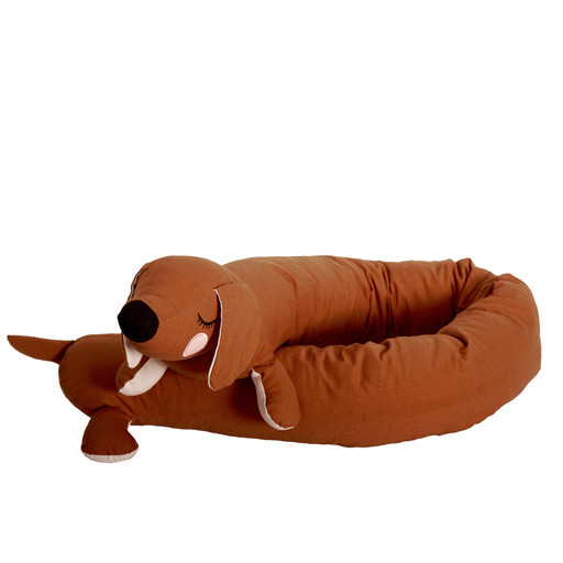 Brigbys - Lazy long dog tax, brown