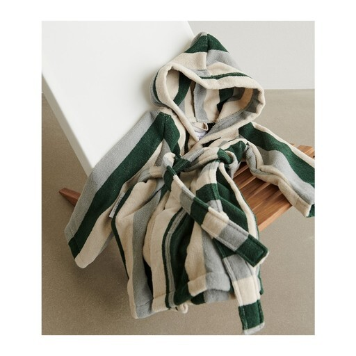 Liewood - Reggie bathrobe stripe graden green/sandy/dov