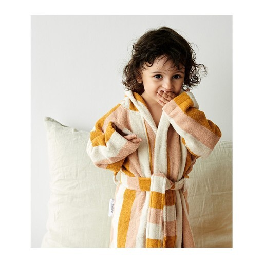 Liewood - Reggie bathrobe stripe peach/sandy/yellow mel
