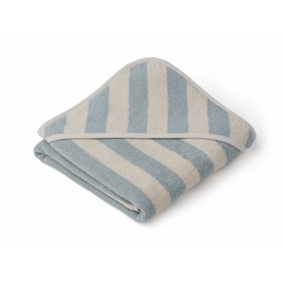 Liewood - Alba hooded towel sea blue/sandy