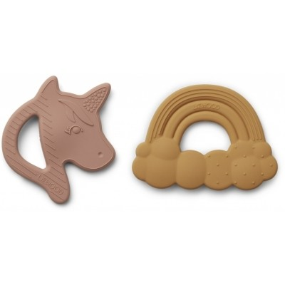 Liewood - Roxie silicone teether 2-pack LIMITED EDITION
