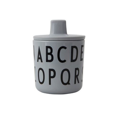 Design Letters - Eat & learn ABC-mugg grå