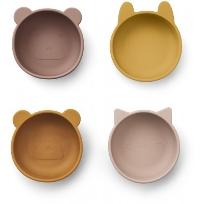 Liewood - Iggy silicone bowls 4-pack rose mix